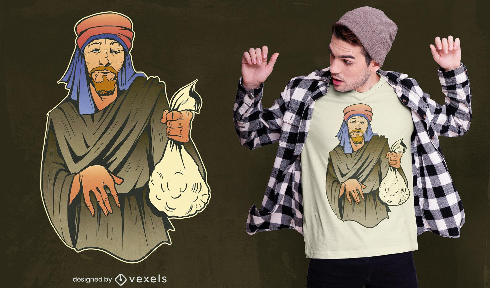 Diseño de camiseta de comerciante