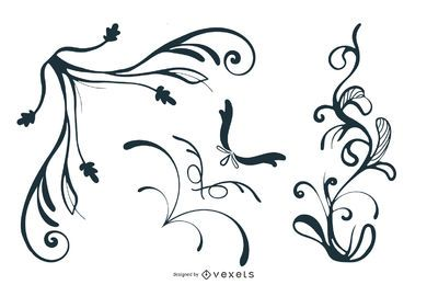 Free Vector Swooshes, and Fancy Corner Designs