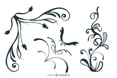 Vector libre Swooshes, y diseños de la esquina de lujo