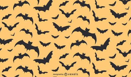 Bats halloween flat pattern