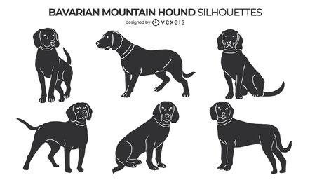 Bavarian Mountain Hound dogs set