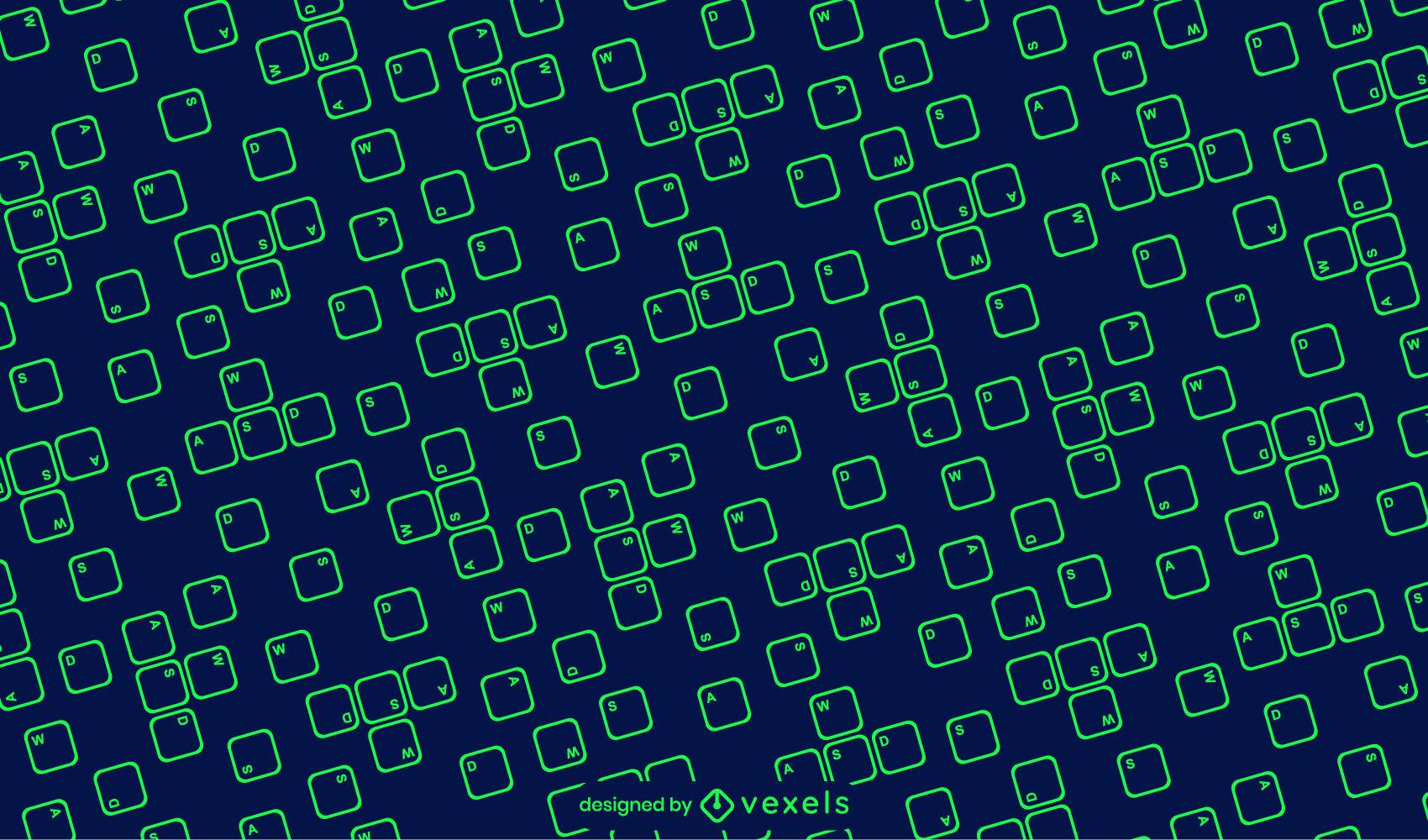 Wasd gaming keys stroke pattern