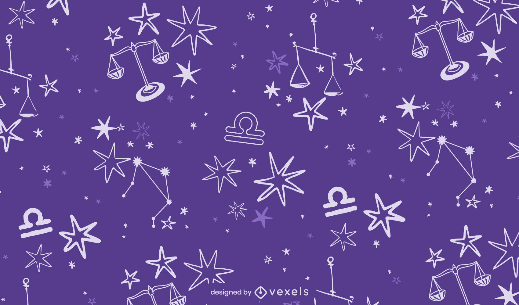 Libra constellation zodiac sign pattern