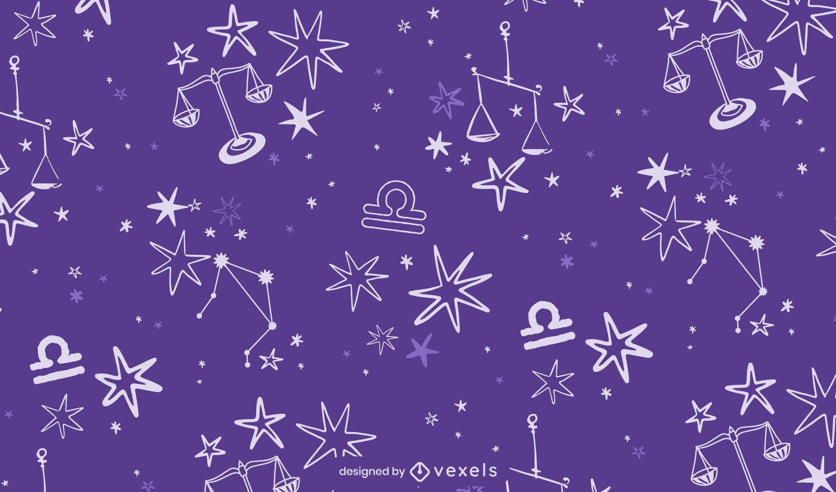 Patrón de signo del zodíaco de la constelación de Libra