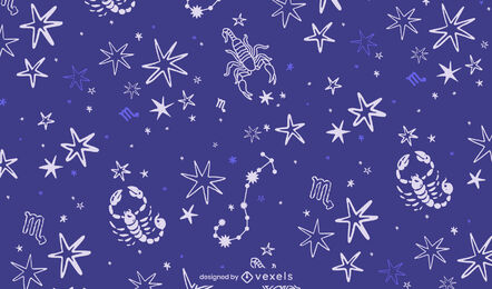 Scorpio constellation zodiac sign pattern