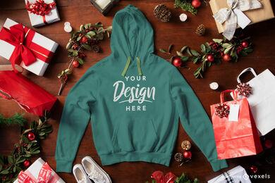 Grünes Hoodie Weihnachtsmodell