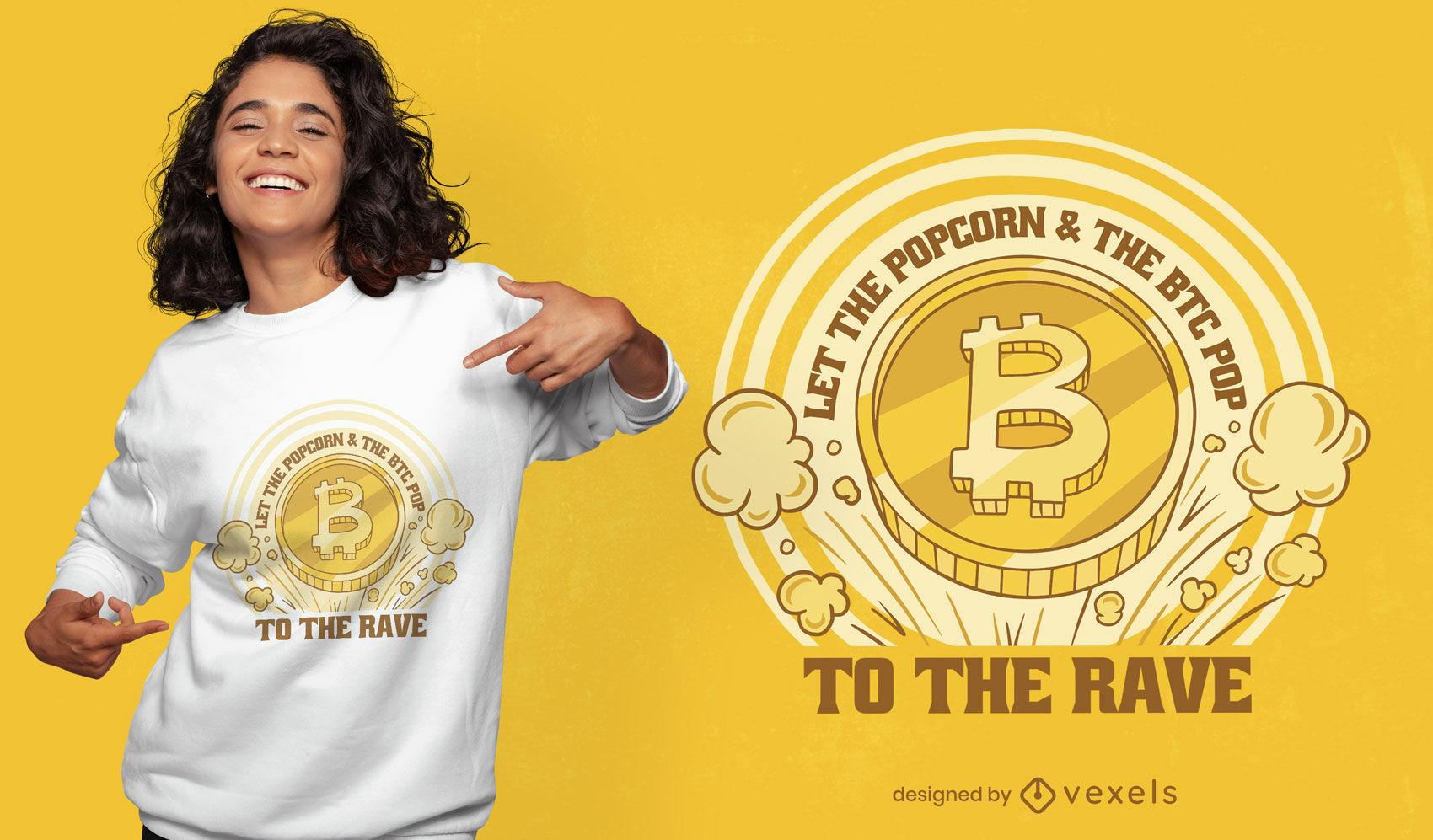 Cool Bitcoin pop t-shirt design