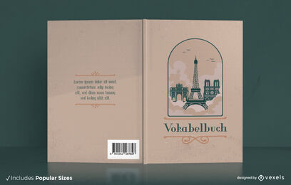 Paris france landmarks book cover design