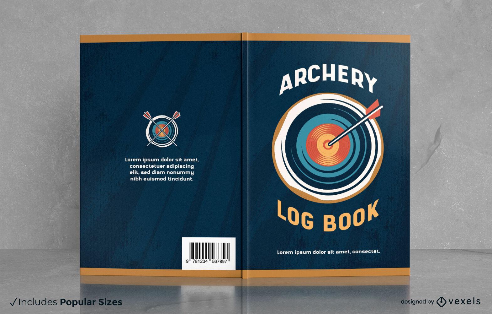 Flecha de arco e flecha no design da capa do livro alvo