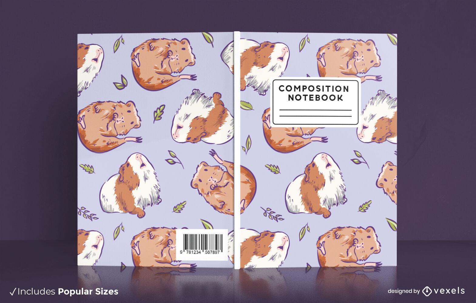 Design de capa de livro de animais porquinhos-da-índia