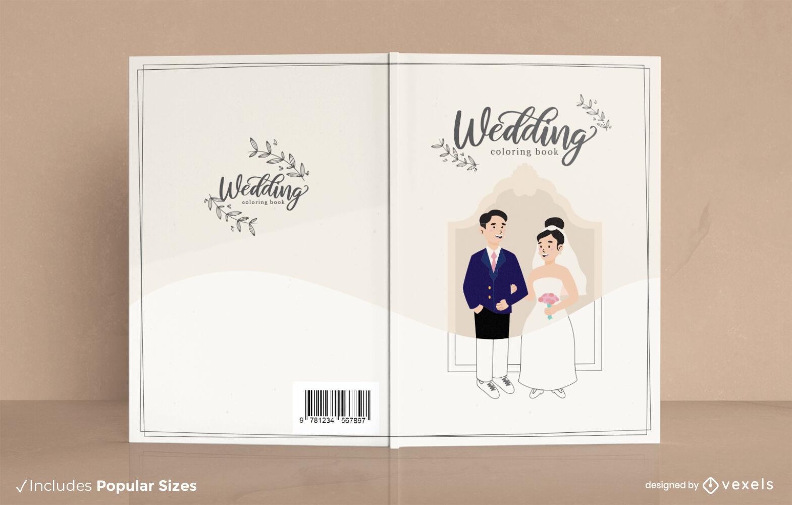 Design da capa do livro do noivo e da noiva