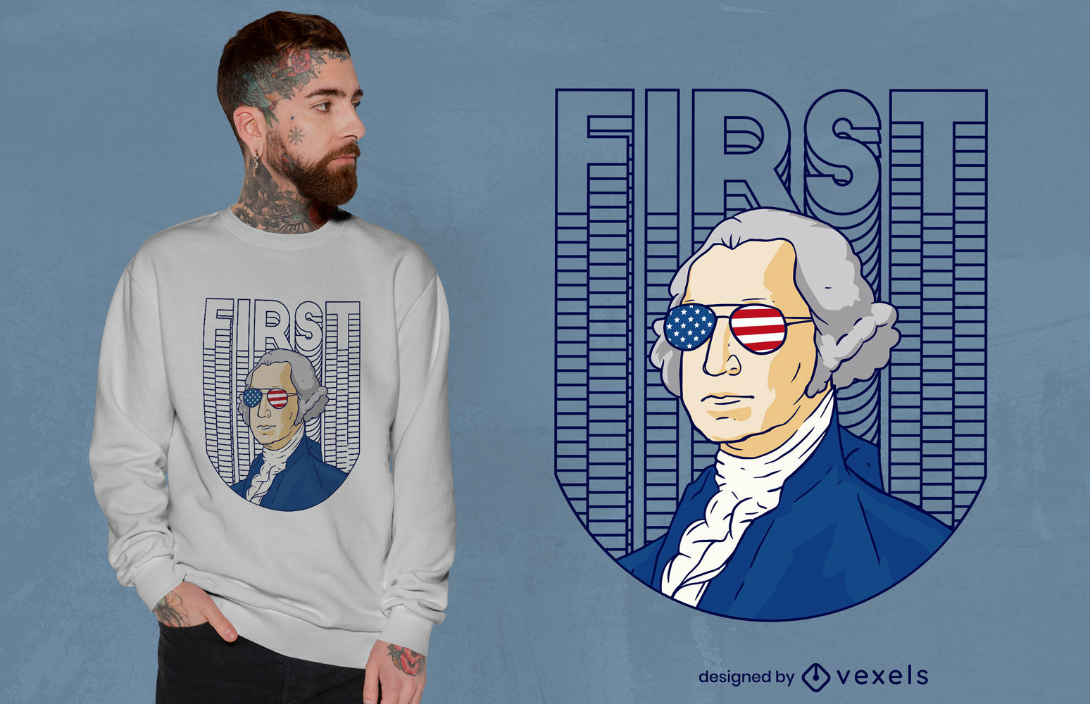 Cool Washington t-shirt design
