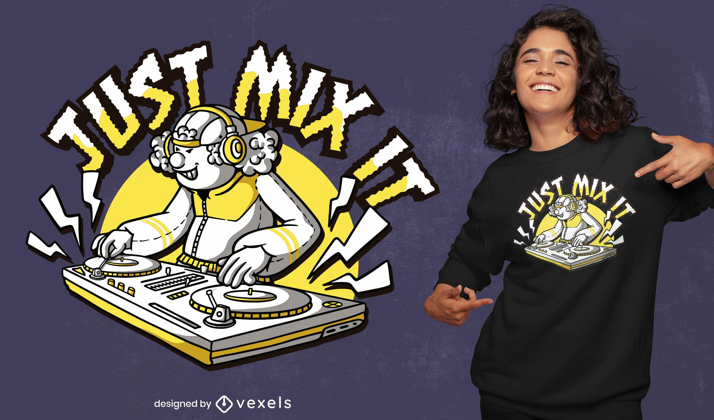 Design de t-shirt de DJ de música retro