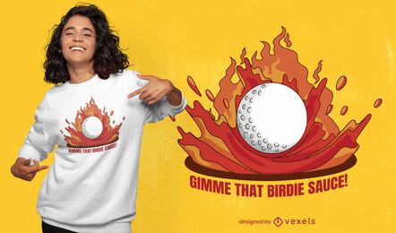 Golf ball birdie t-shirt design