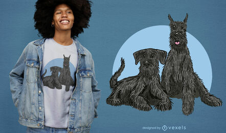 Schnauzer dogs illustration t-shirt design