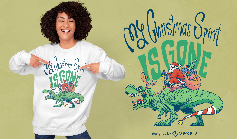 Genial diseño de camiseta anti-Navidad