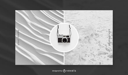Minimal camera and textures facebook cover template