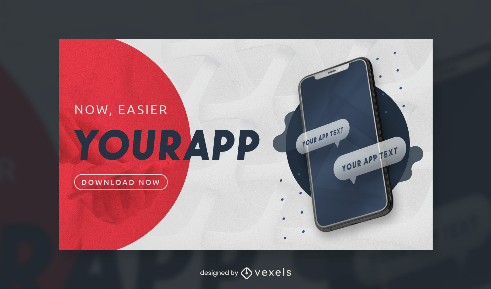 Smartphone app text facebook cover template