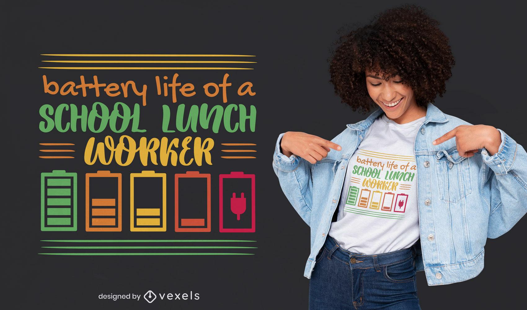 Diseño divertido de la camiseta de las letras de la cita de la batería