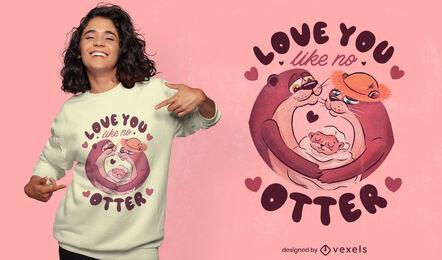 Nutria pareja de animales enamorados diseño de camiseta