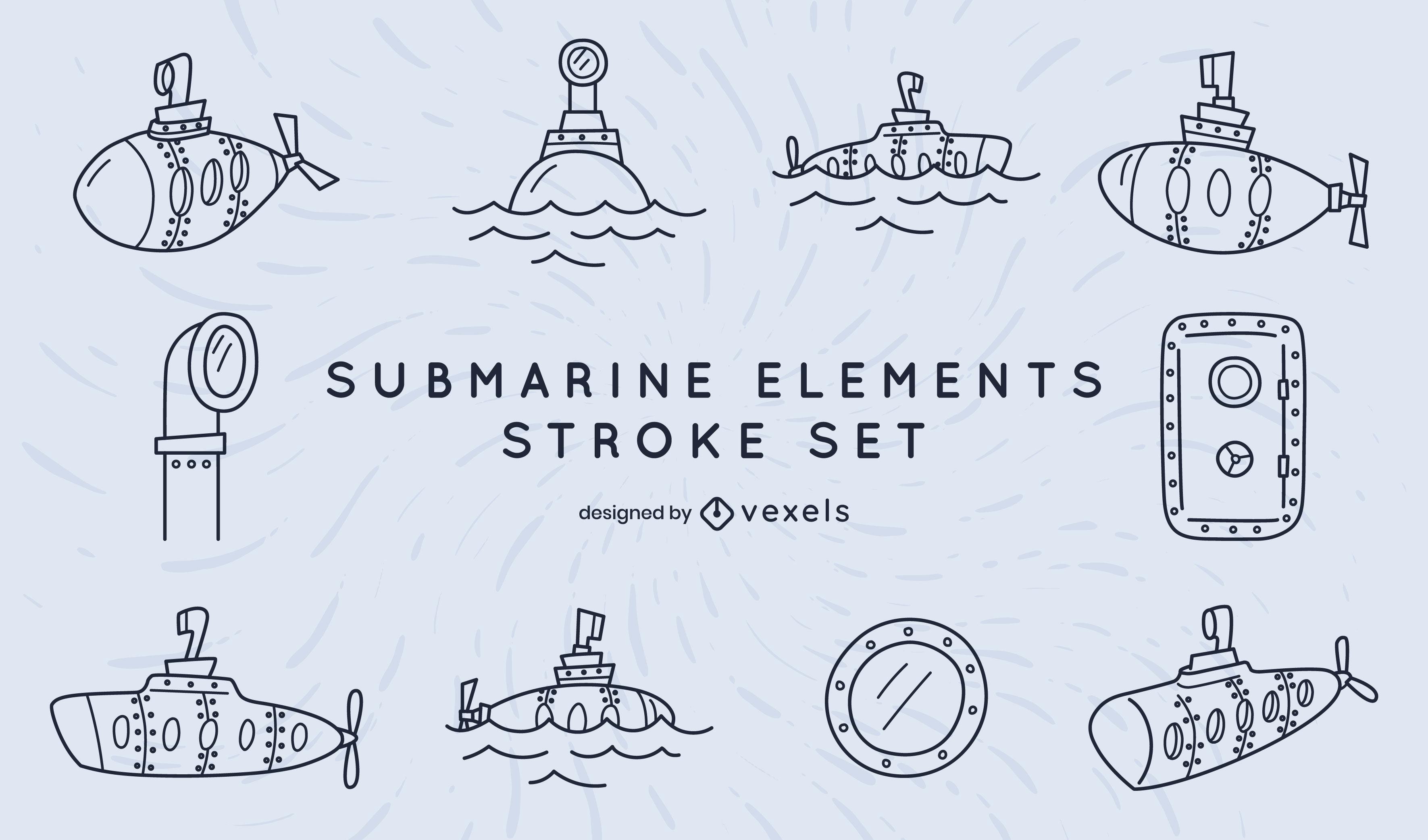 Submarine stroke set of elements