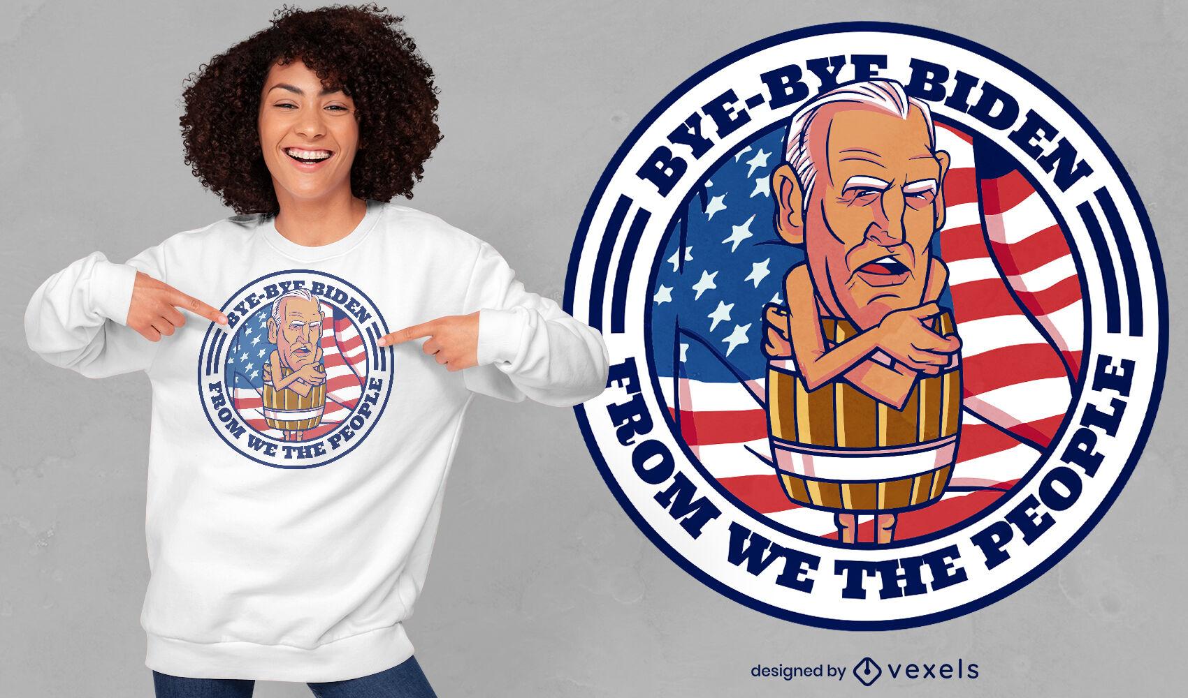 Desenho de t-shirt engraçada paródia de desenho animado Biden