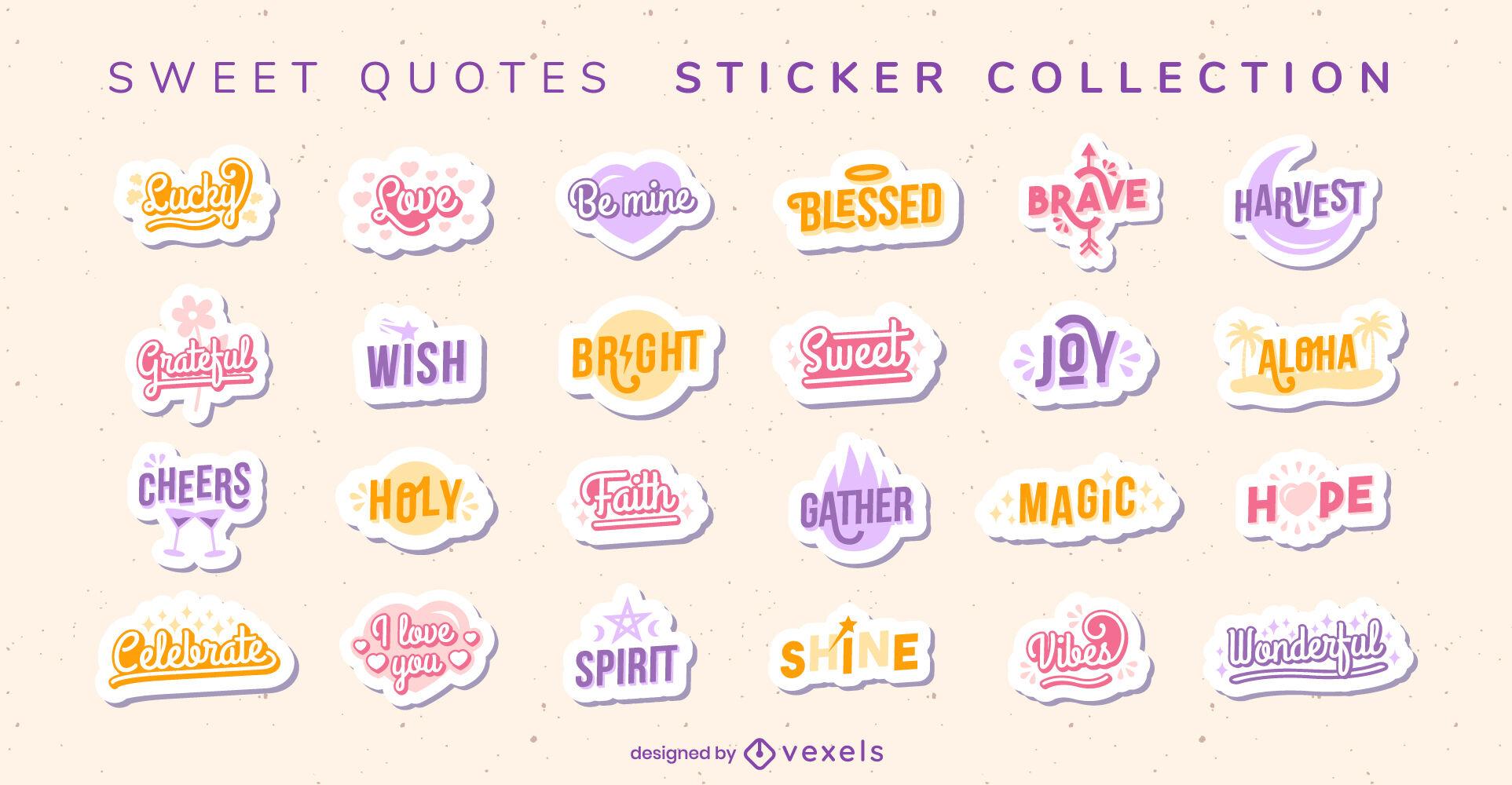 Kind quotes assortment sticker set