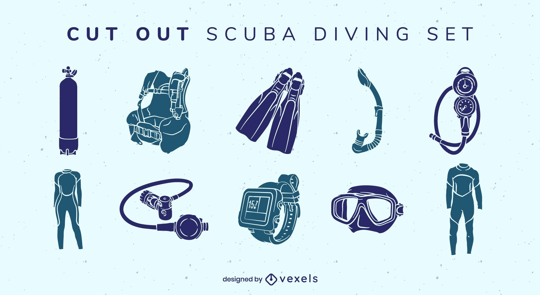 Diving equipment cut out elements