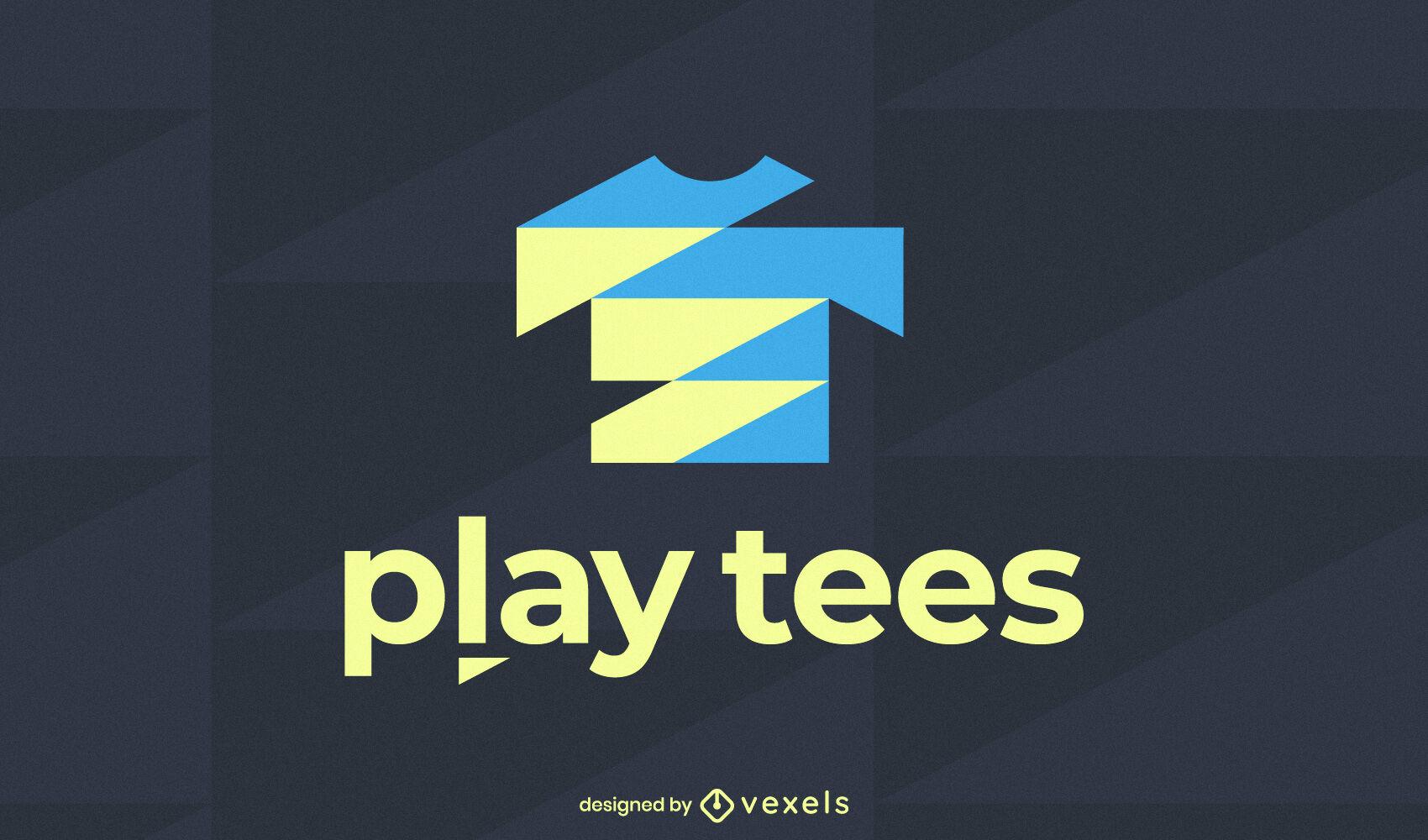 Modelo de logotipo de empresa de roupas de camisa