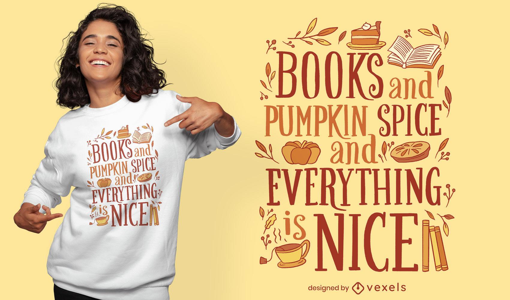 Design legal de t-shirt com citações de abóbora