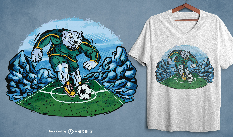 Soccer polar bear t-shirt design
