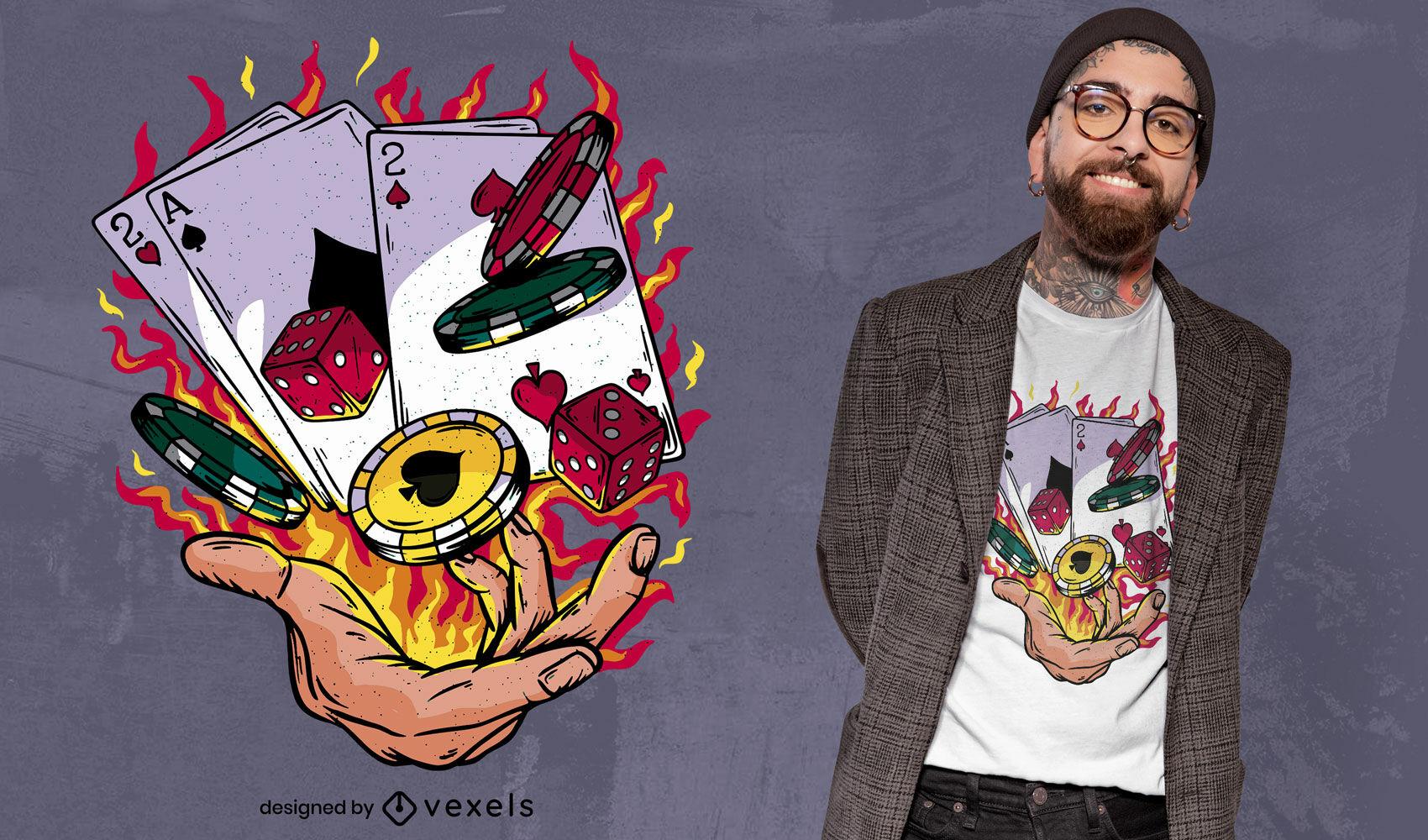 Fire Black Jack t-shirt design