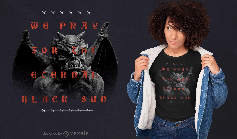 Gargoyle Zitat Trap PSD T-Shirt Design