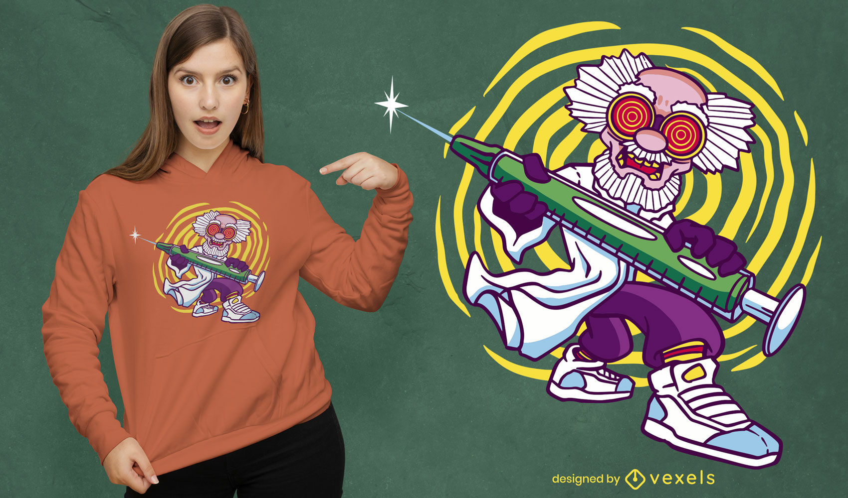 Design legal de camisetas para cientistas malucos