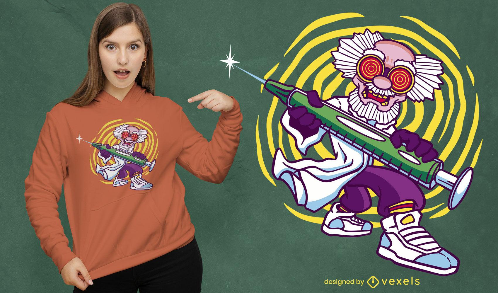 Genial diseño de camiseta de científico loco