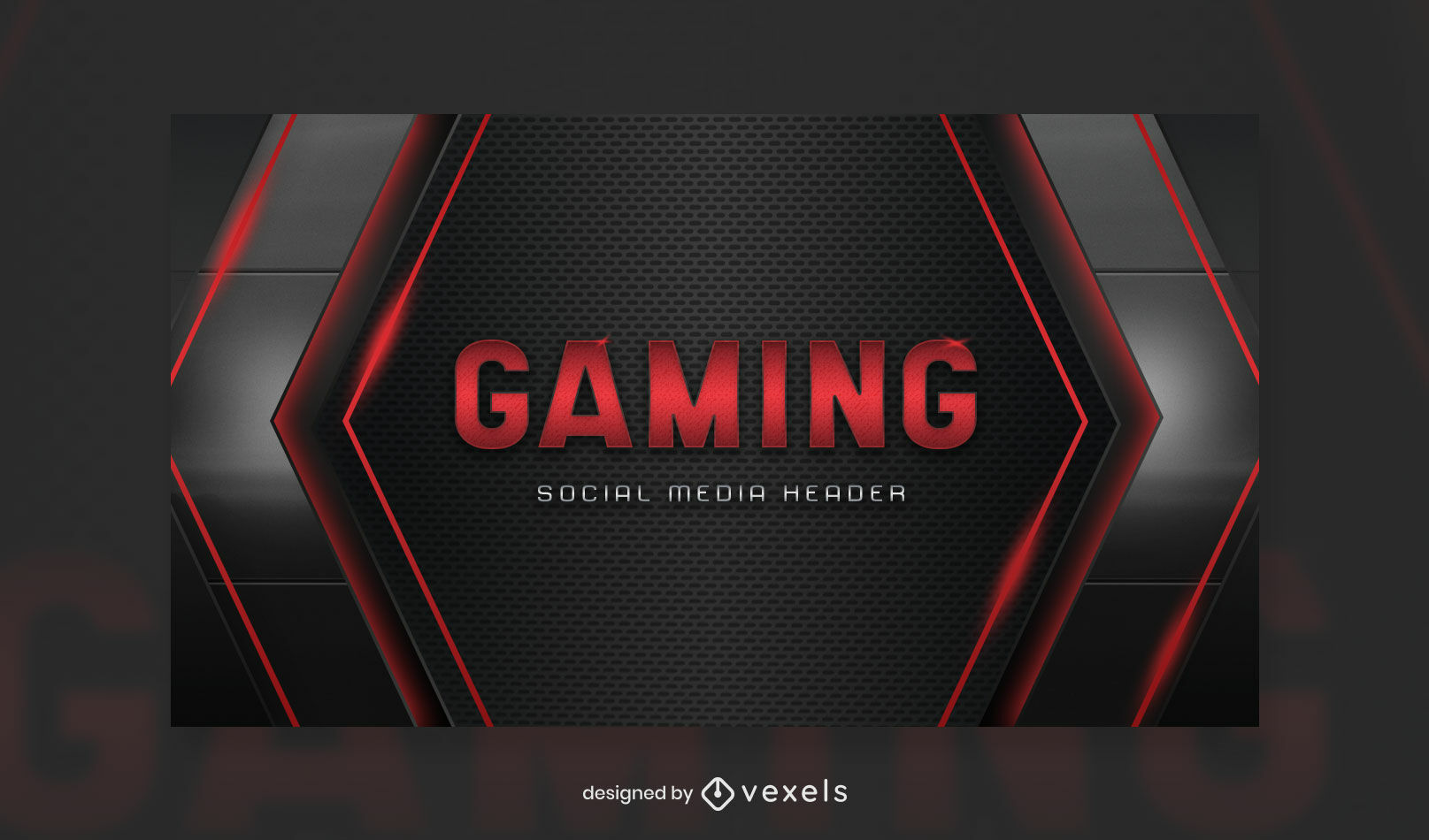 Futuristic gaming facebook cover template