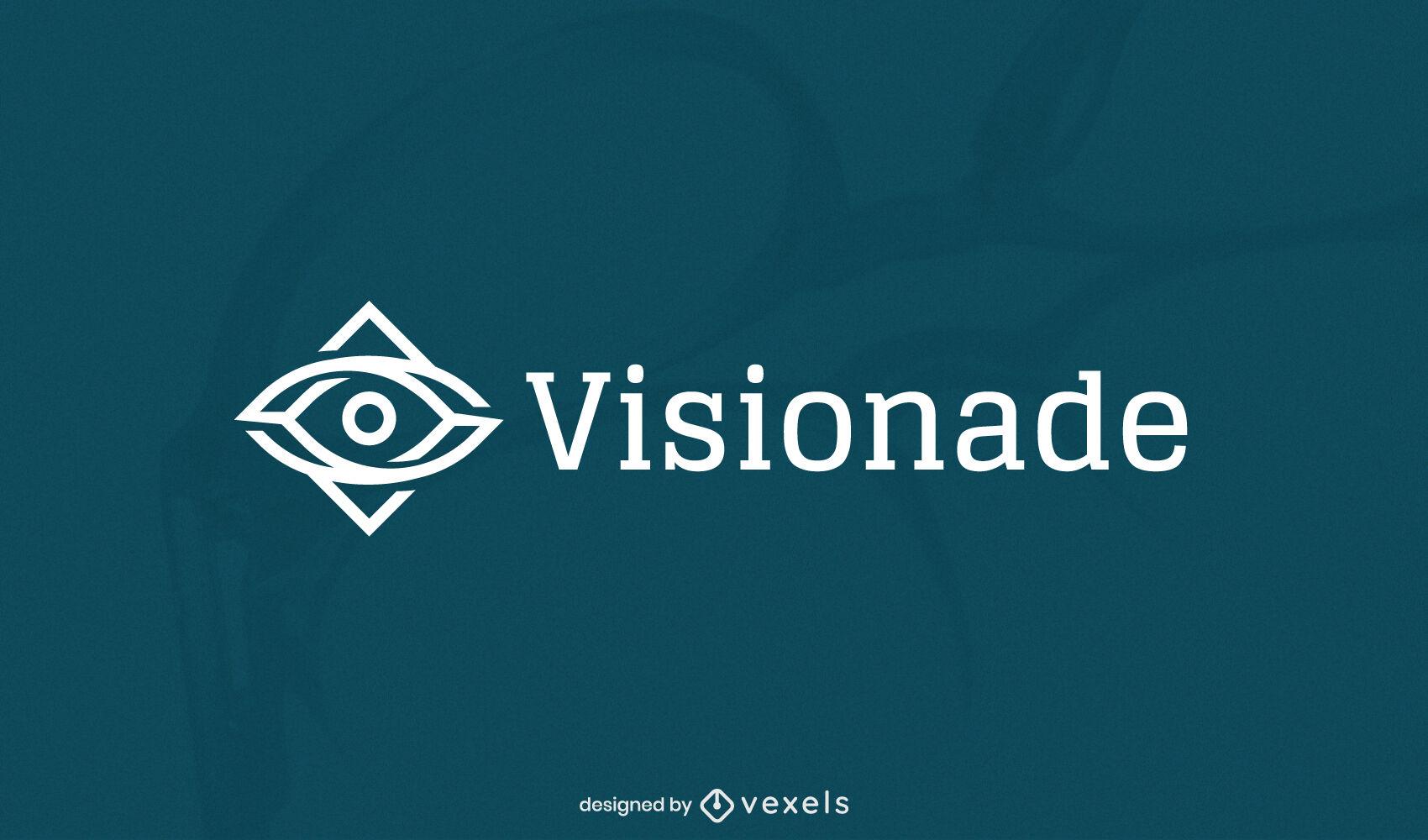 Plantilla de logotipo de empresa de trazo de forma de ojo