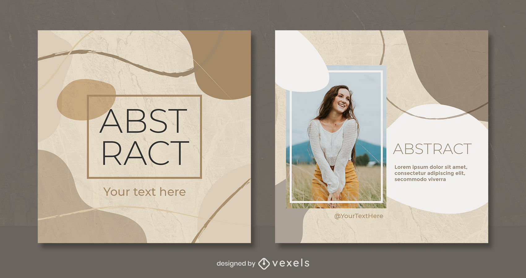 Organic abstract clear tones instagram post template