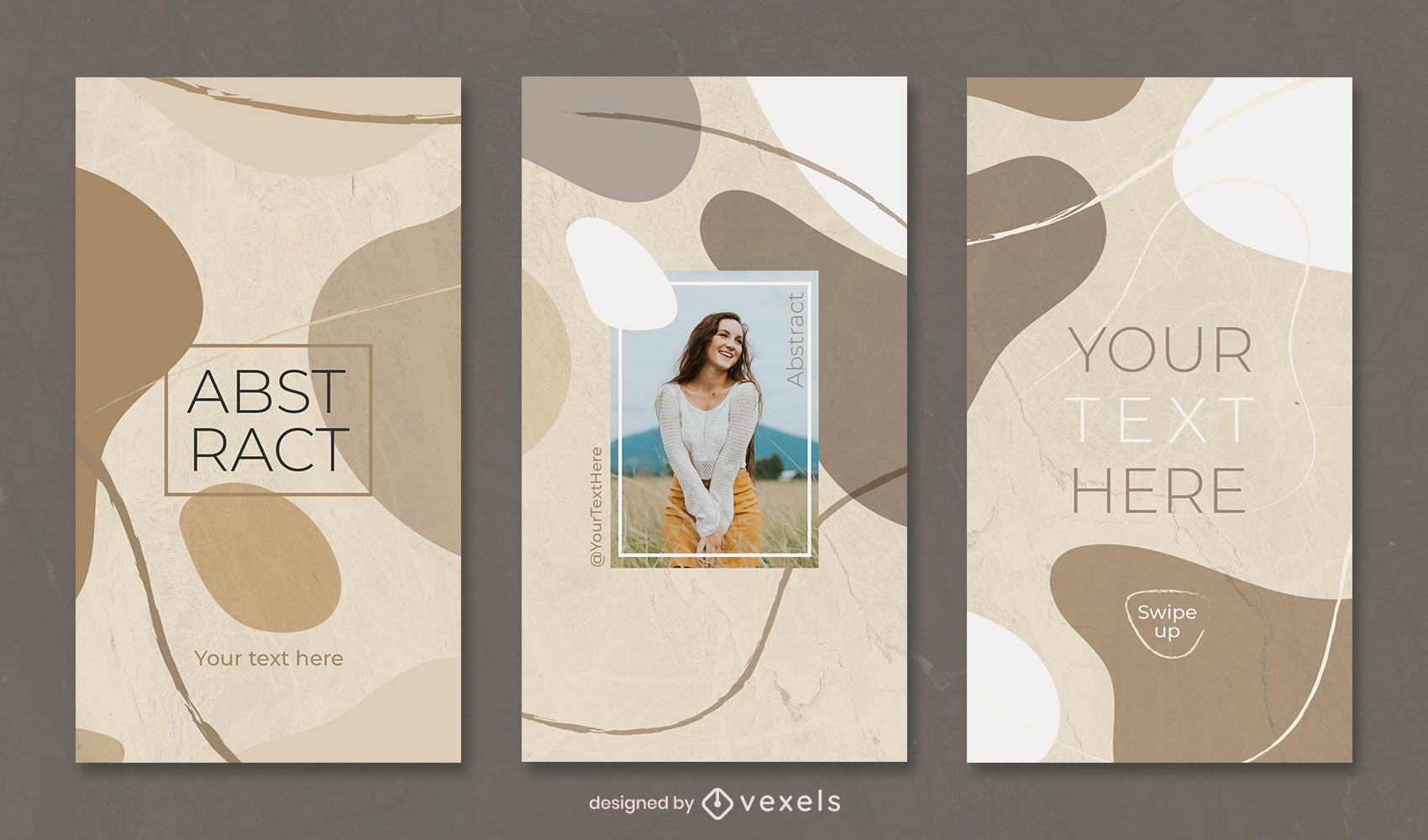 Organic abstract clear tones instagram story template