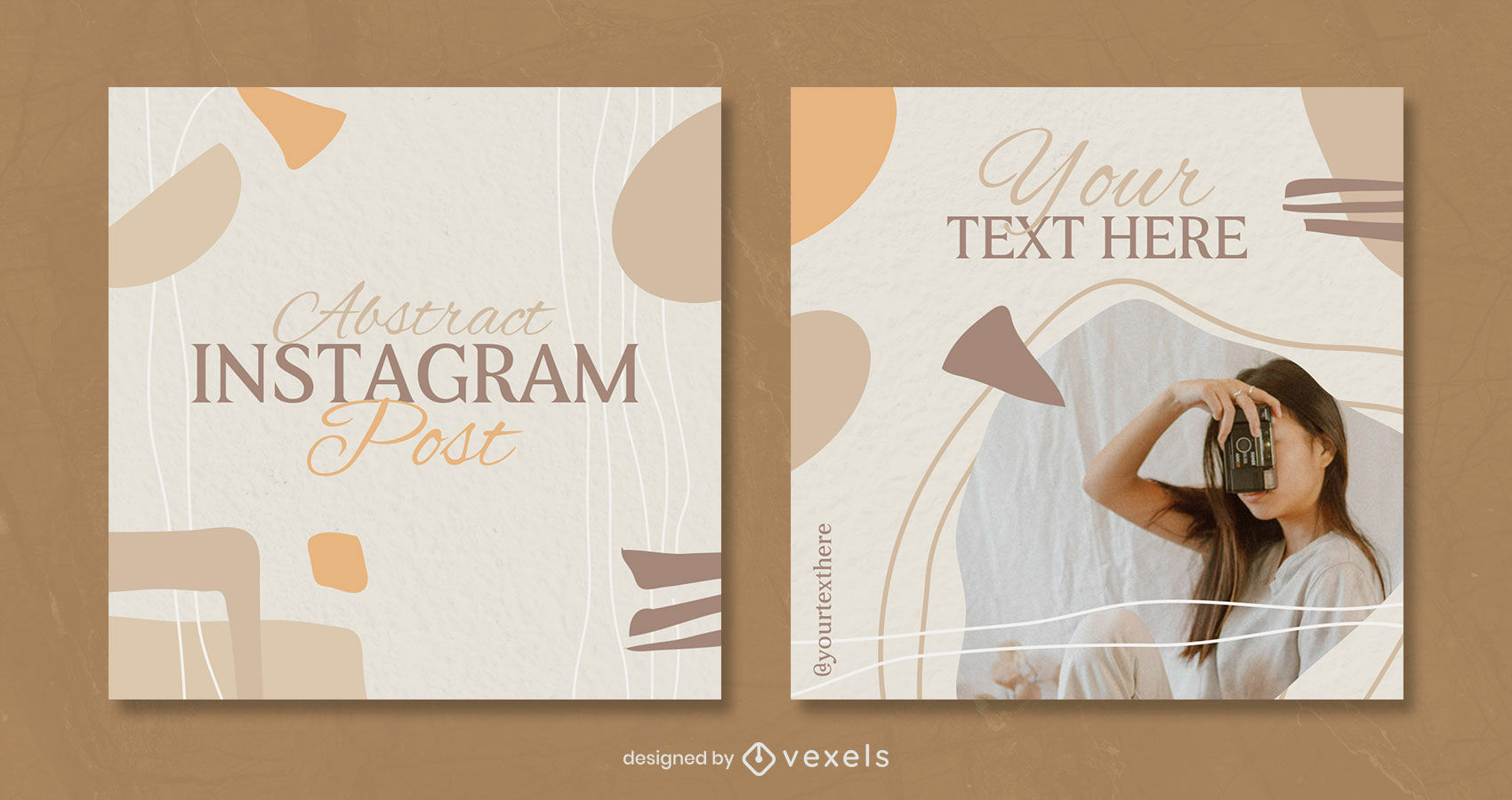 Abstract organic warm tones and shapes post template