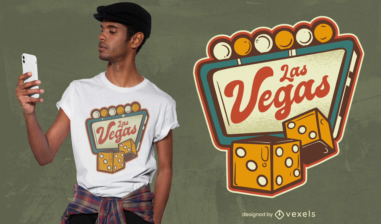 Genial diseño de camiseta de Las Vegas