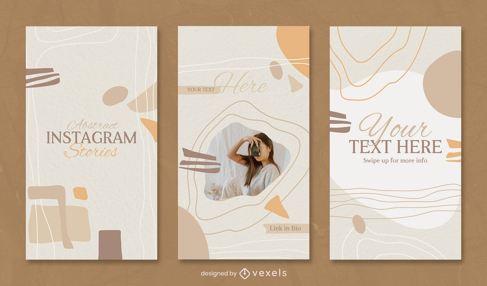 Abstract organic elements instagram story template