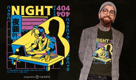 Cool cyberpunk t-shirt design