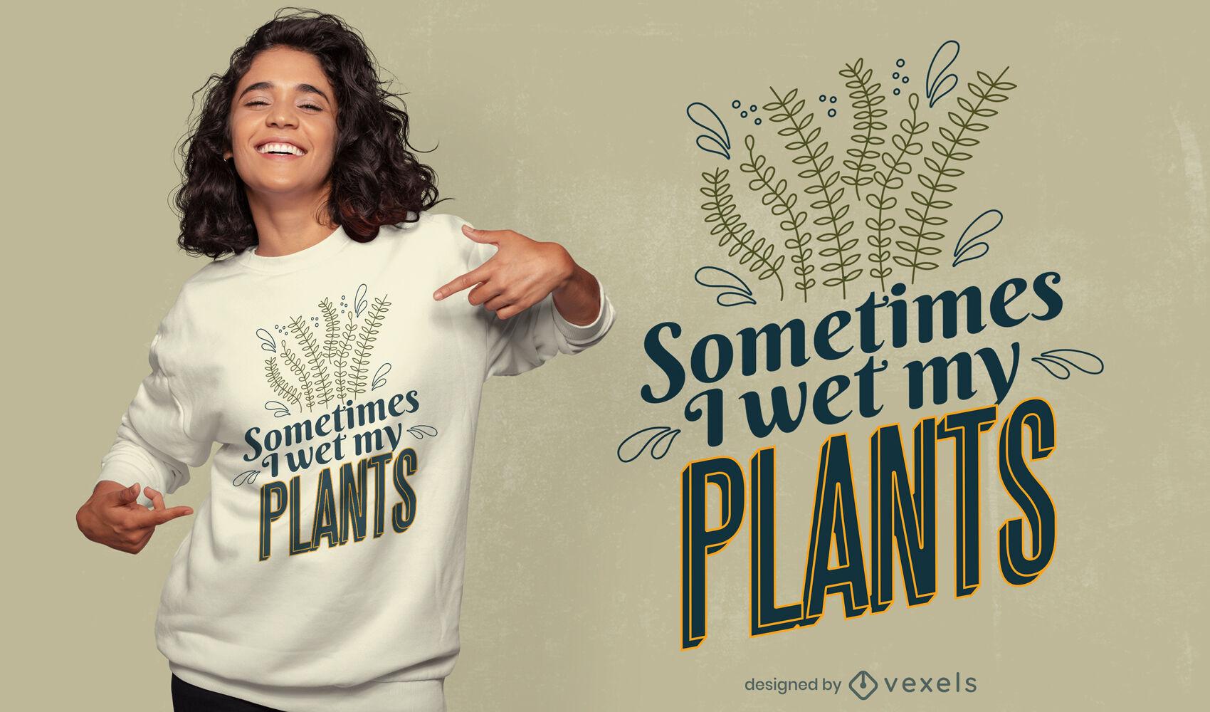 Projeto de camisetas engraçadas de plantas naturais