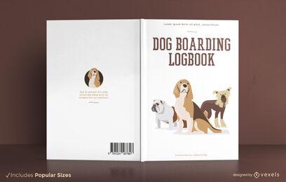 Dog breeds animal book cover design