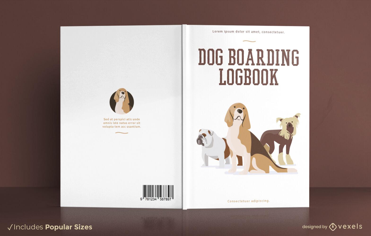Diseño de portada de libro de animales de razas de perros