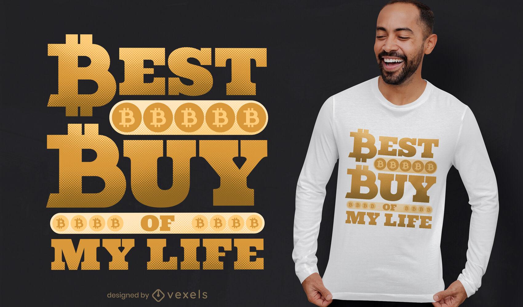 Melhor compra de design de camiseta bitcoin