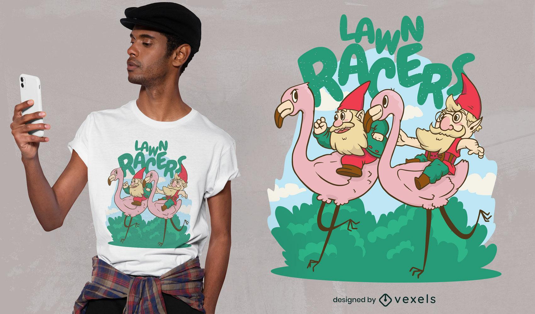 Desenho de t-shirt de gnomos de jardim fixes