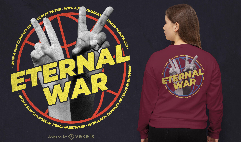 Eternal war hands psd t-shirt design
