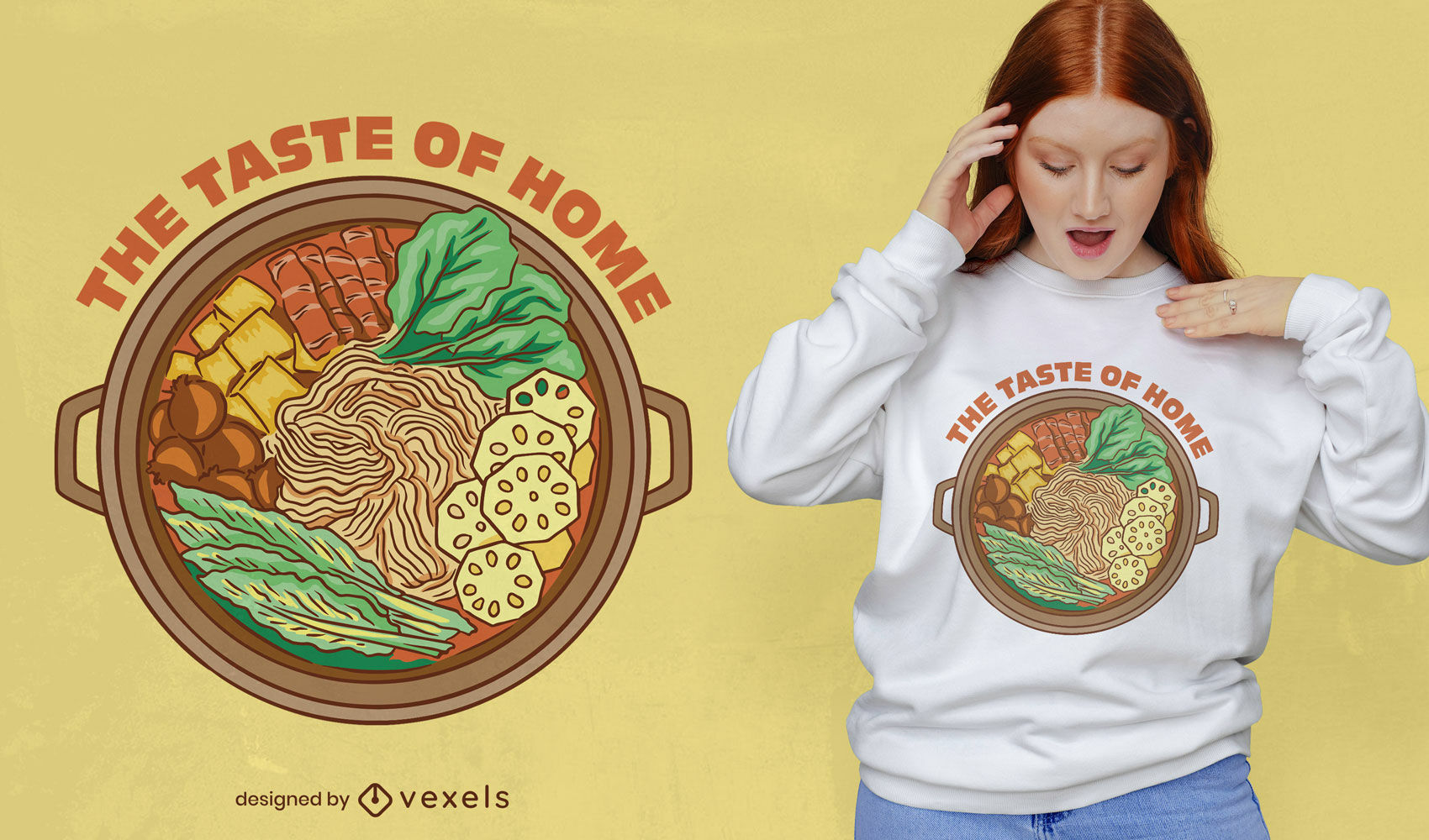 Saborosa t-shirt chinesa com hot pot